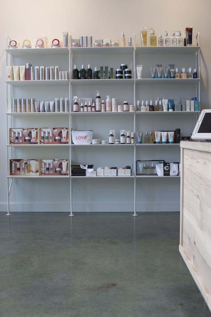 Open Cosmetic Shelving