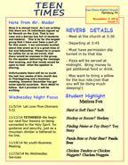 Teen Times Newsletter