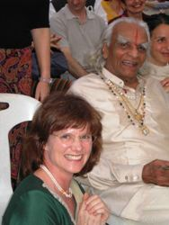 Laurie with BKS Iyengar