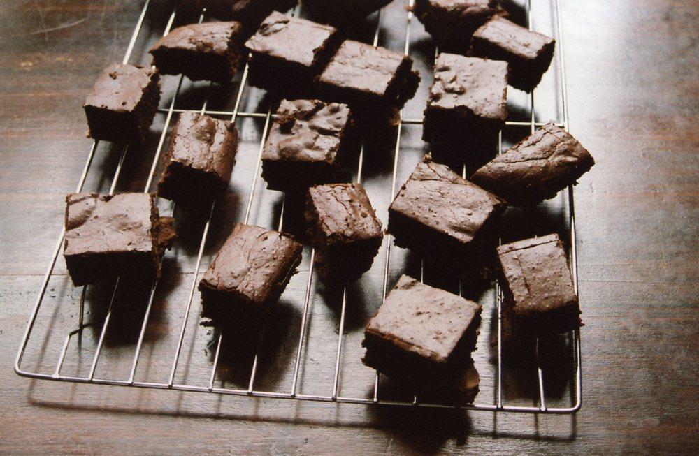 Chocolate, Walnut & Marmalade Slice