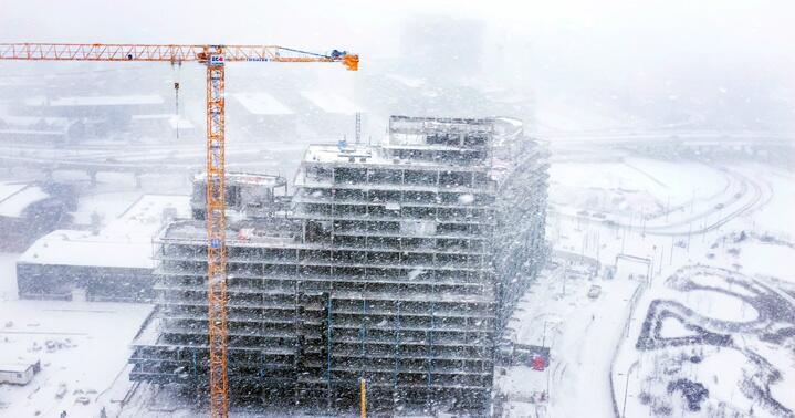 Toronto snow storm as captured by Spencer Wynn's kite rig, and his trusty X100S.