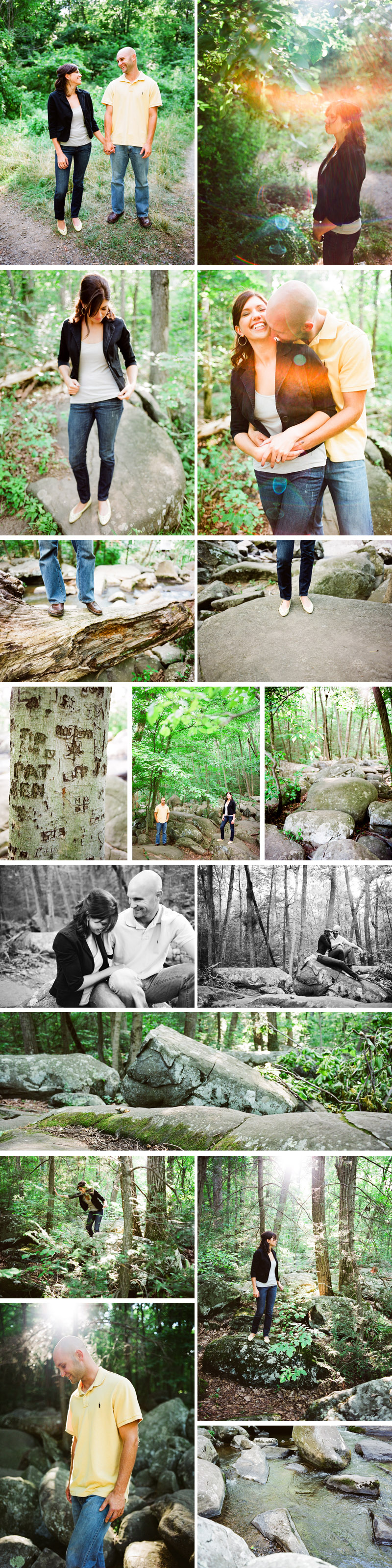 Erin & Matt's engagement session in french creek state park photographed by ash imagery