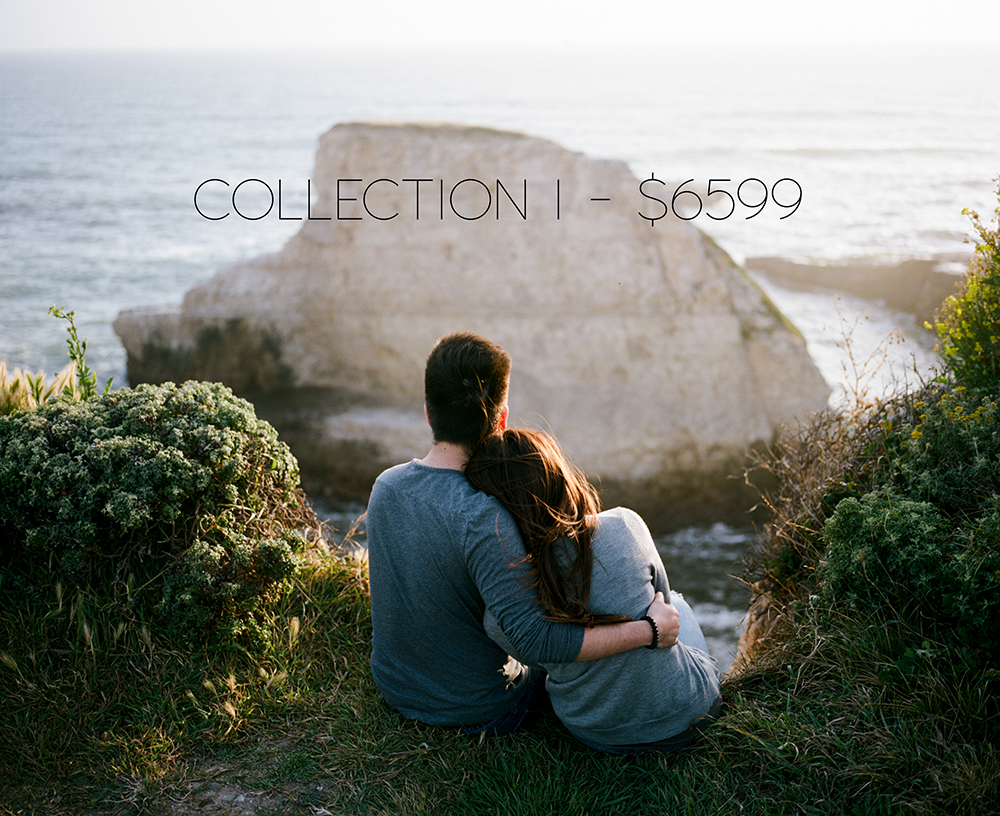 COLLECTION I INCLUDES THE FOLLOWING: UP TO 11 HRS OF COVERAGE ONLINE GALLERY WITH PRINT ORDERING 12X12 WEDDING ALBUM WITH 30 PAGES (2) 50 PAGE COFFEE TABLE PARENT ALBUMS ENGAGEMENT SESSION 2ND PHOTOGRAPHER FILM/INSTANT FILM SLIDESHOW UNLIMITED FULL RESOLUTION IMAGES VIA DOWNLOAD