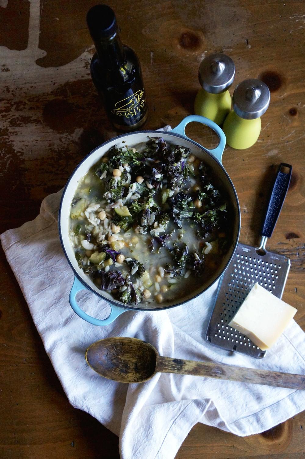 a classic Genoese minestrone via sarahdigrazia.com