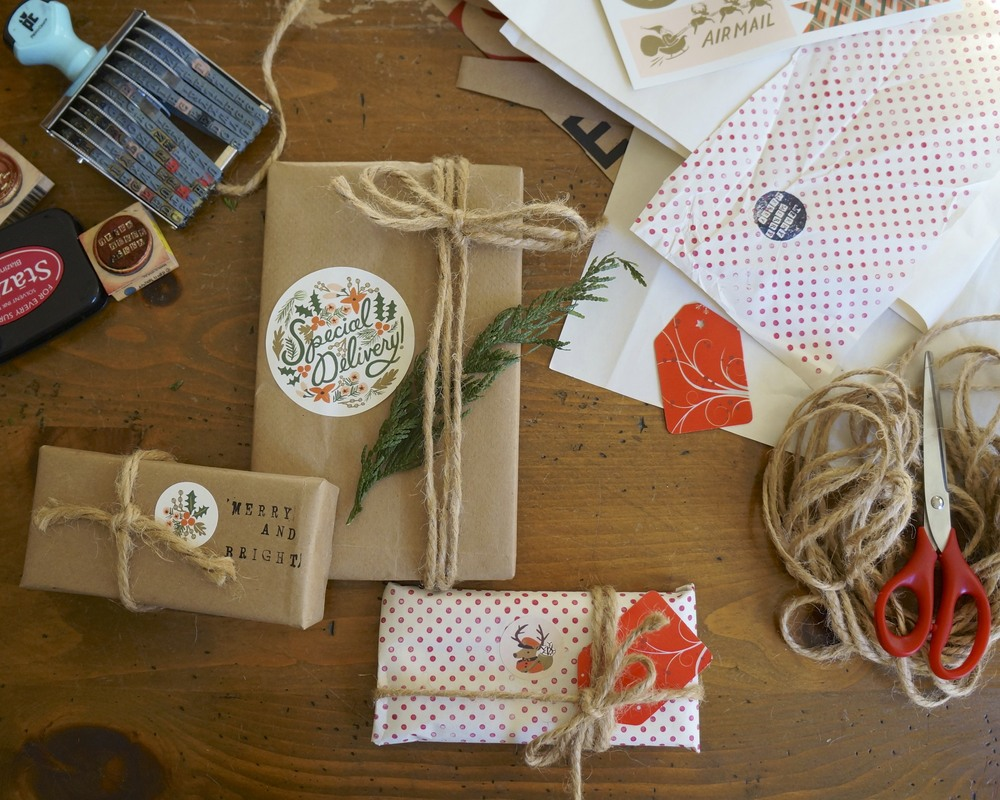 diy gift wrapping via sarahdigrazia.com