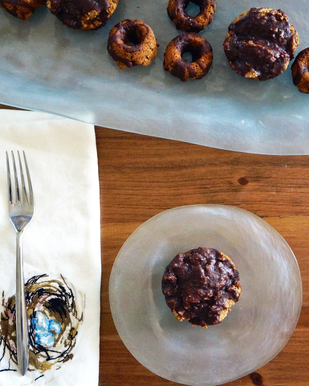 vegan and gluten free buttermilk doughnuts via sarahdigrazia.com