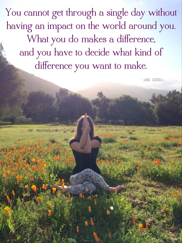 What you do makes a difference. via sarahdigrazia.com