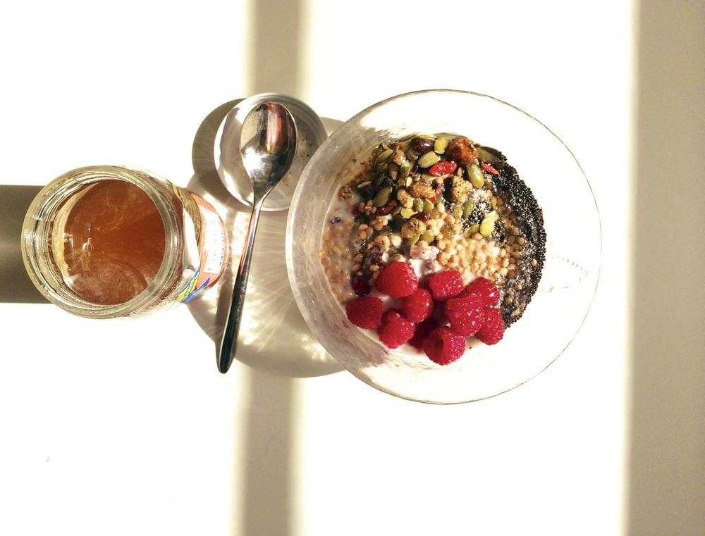 berry + seed muesli via sarahdigrazia.com