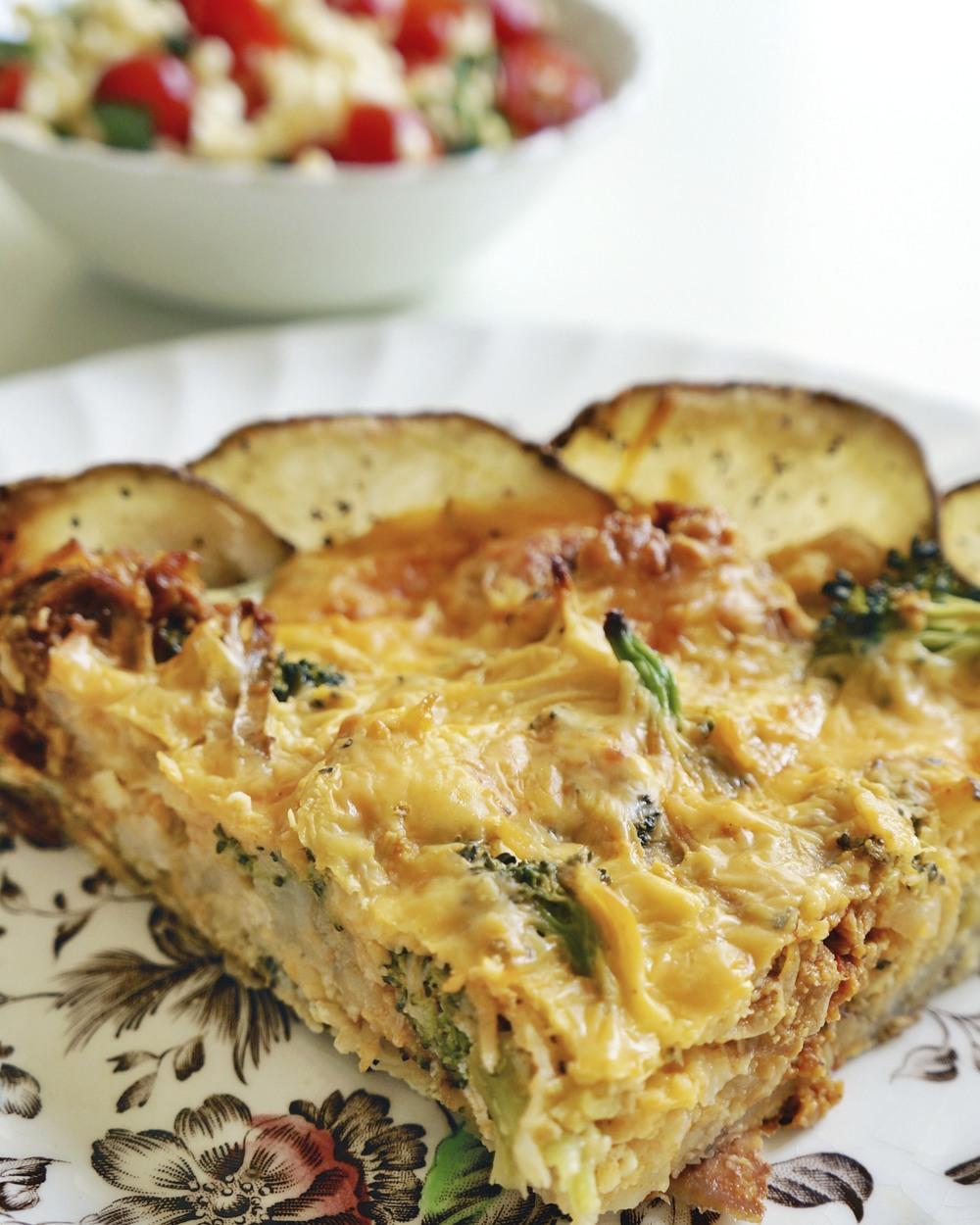 Potato casserole via sarahdigrazia.com