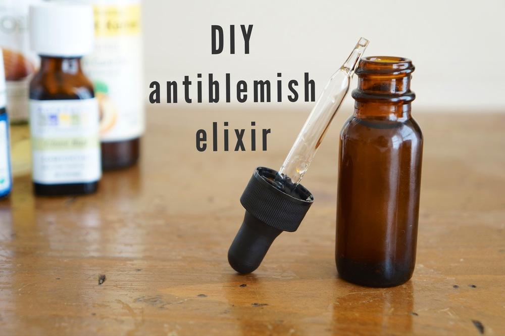 DIY antiblemish elixir via sarahdigrazia.com