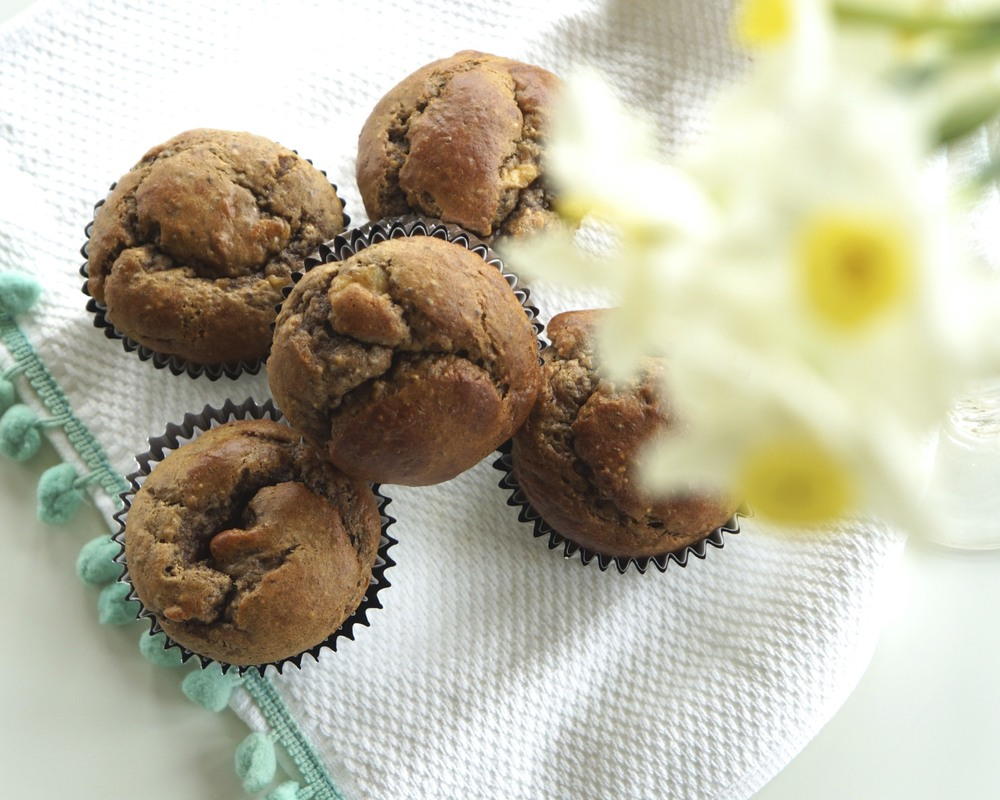 grain-free banana almond butter muffins