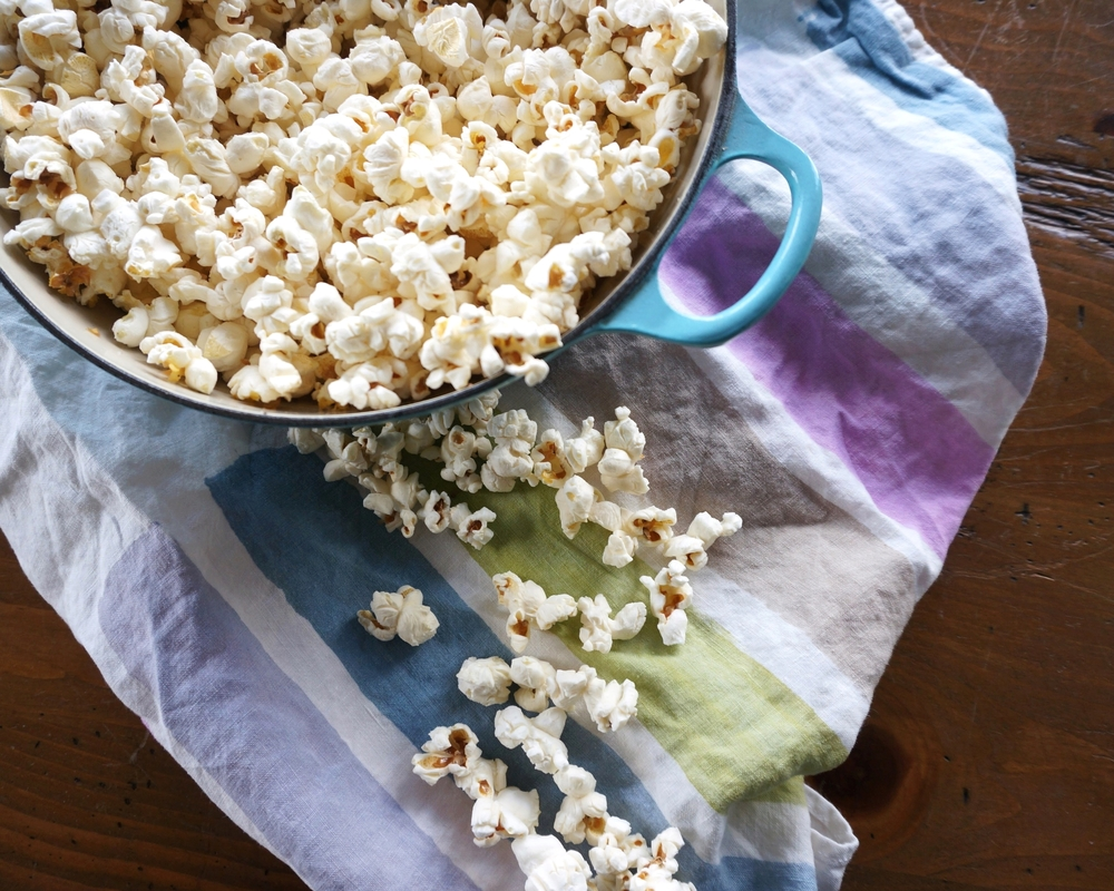 easy popcorn recipe following the rule of 3's