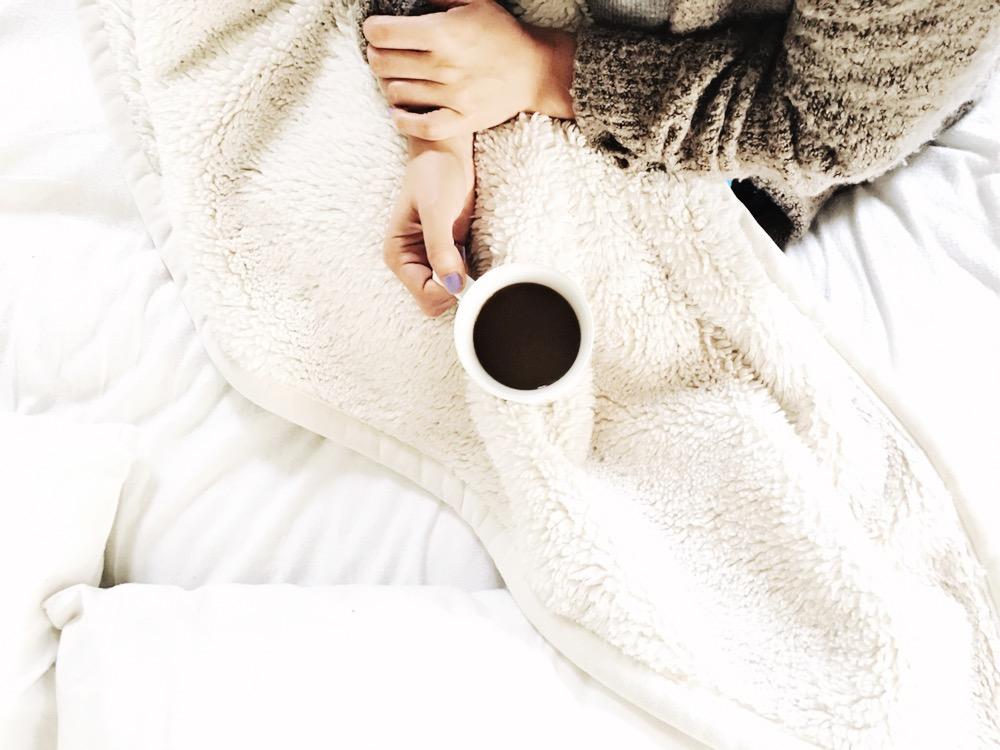 simple pleasure: coffee in bed