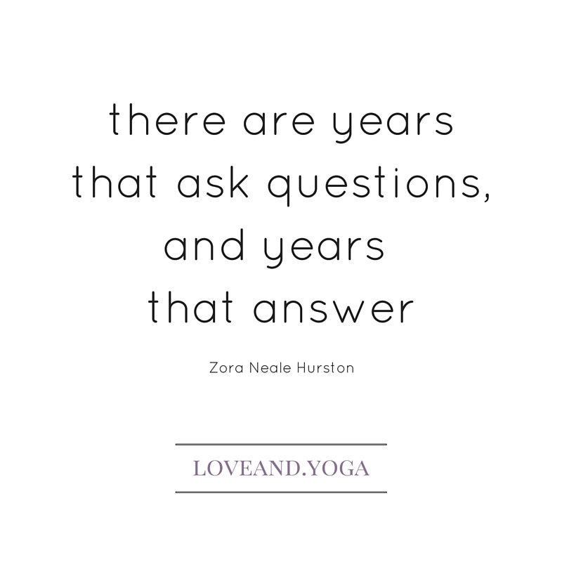 there are years that ask questions...