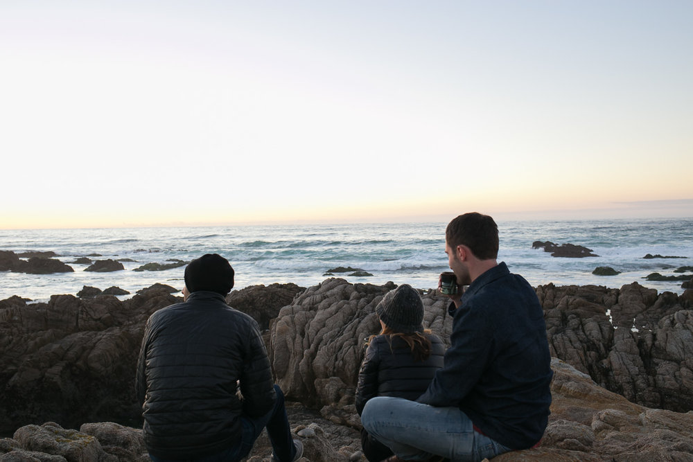 friends and the sunset
