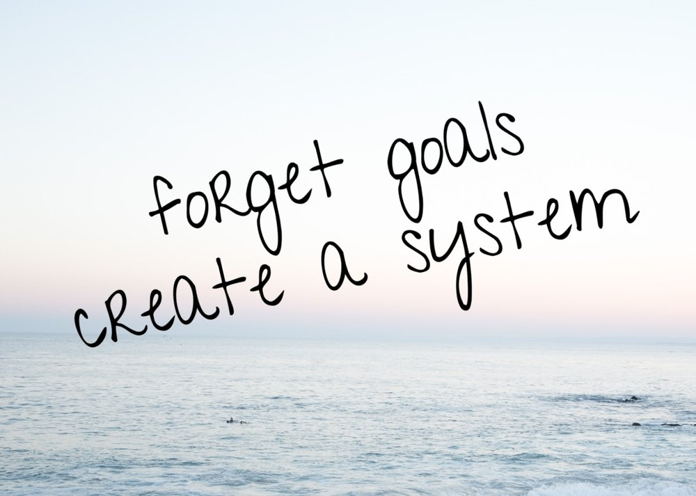 forget goals. create a system