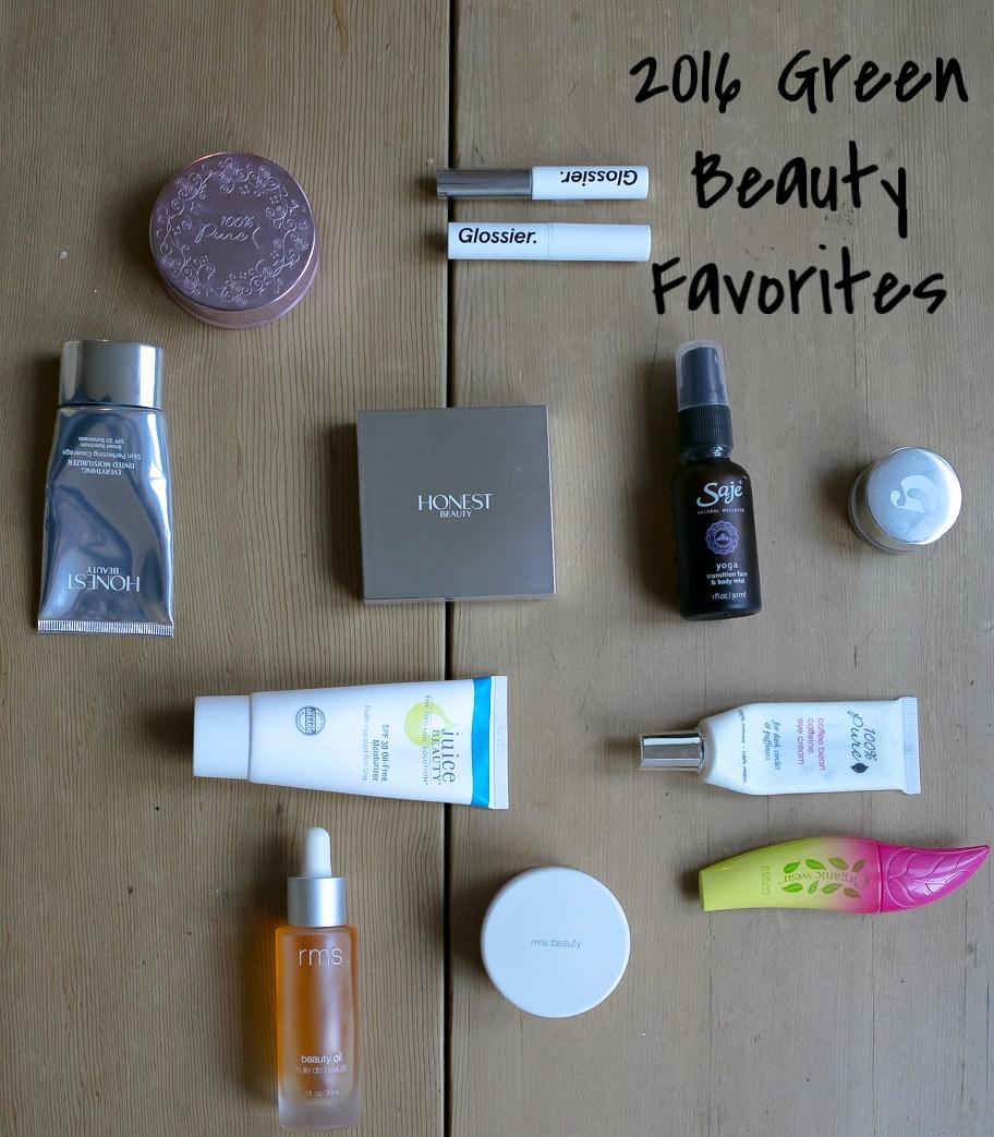 2016 Green Beauty Makeup Favorites