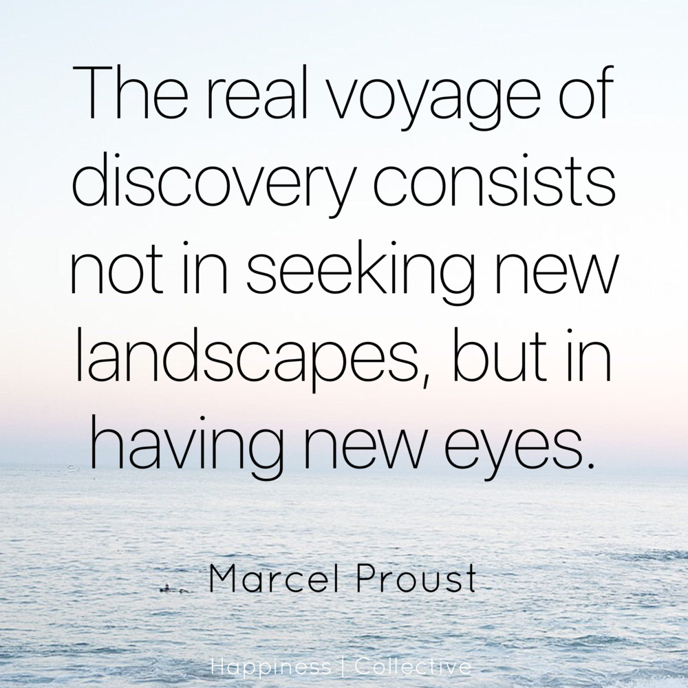 The real voyage of discovery consists not in seeking new landscapes, but in having new eyes - Marcel Proust