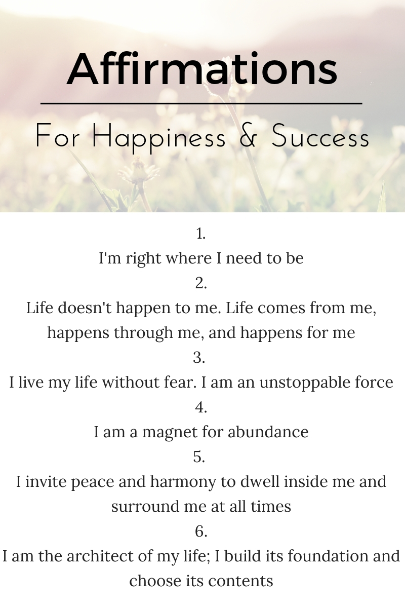 affirmations for happiness and success - happinesscollective.org