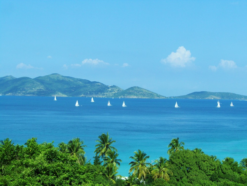 Jost Van Dyke and Sandy Cay as seen from SummerSalt
