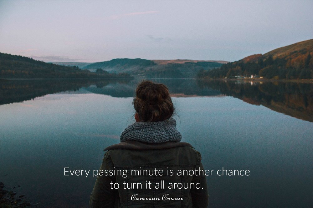Every passing minute is another chance to turn it all around. Cameron Crowe. Circle of Daydreams. www.circleofdaydreams.com