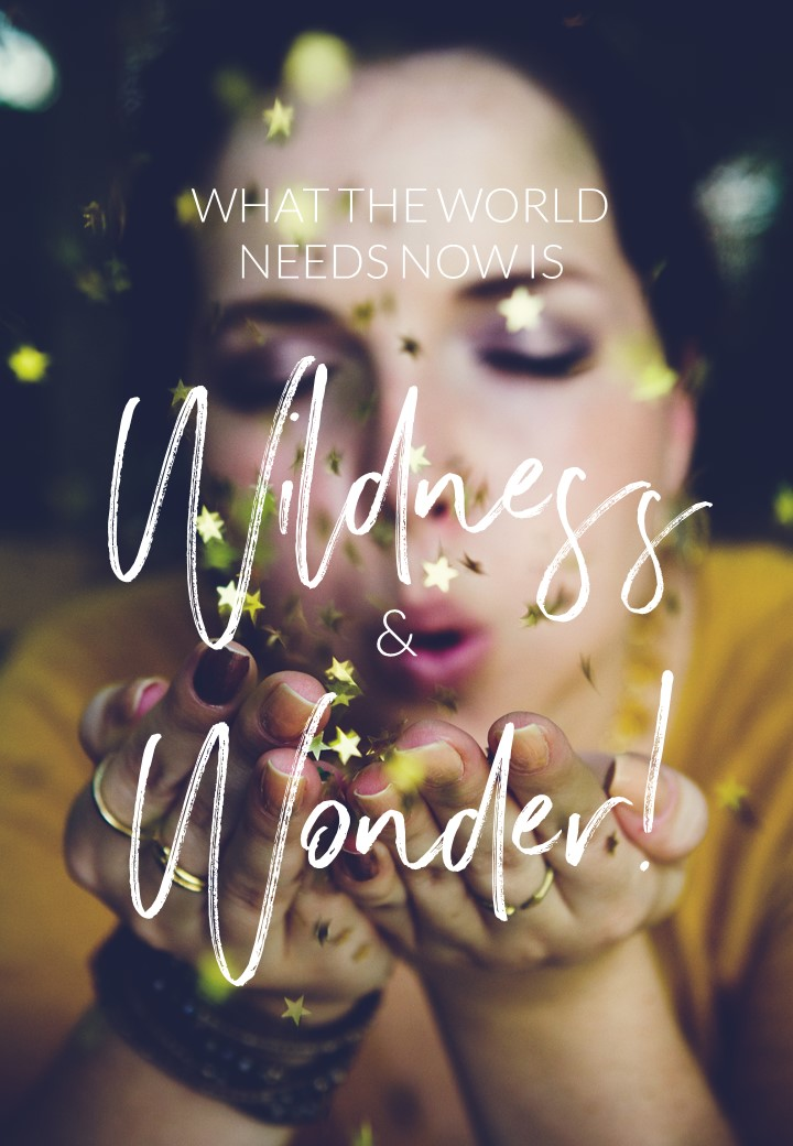 What the world needs now is wildness and wonder. Circle of Daydreams. www.circleofdaydreams.com