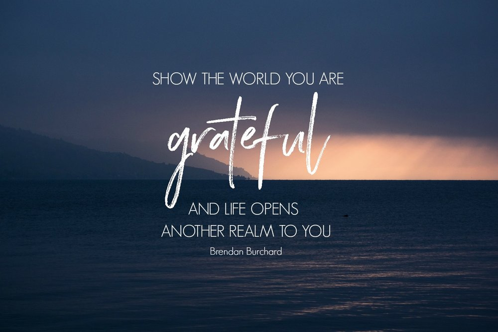 Show the world you are grateful - printable
