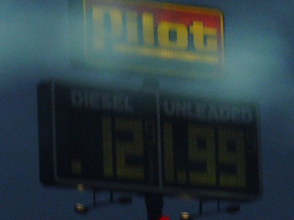 But, lo! There was one good thing about Mic-hi-gan: really cheap diesel fuel!
