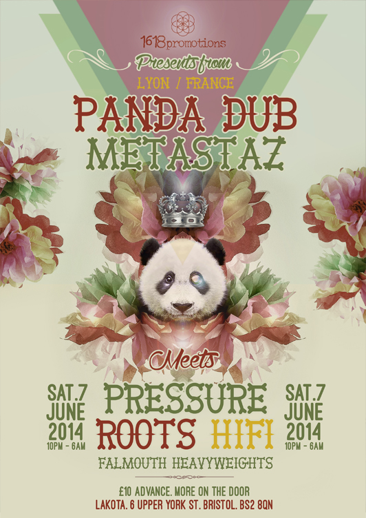 Panda Dub & Metastaz Flyer