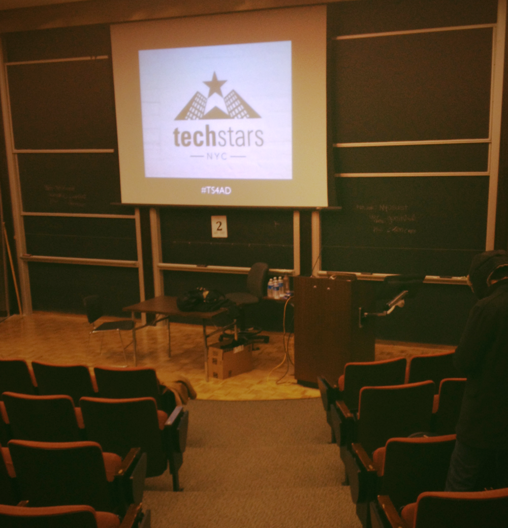 The auditorium at New York University that hosted the event.