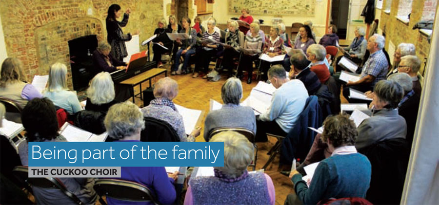Over 60s Cuckoo Choir meet in Cuckfield every Friday