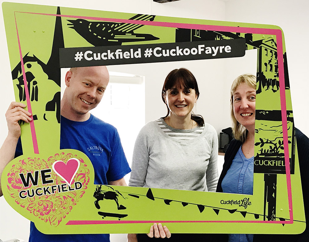 Cuckfield Life stall at Cuckoo Fayre on 7th May 2018