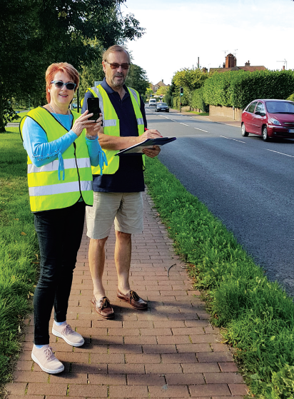 Speedwatch campaign in Cuckfield