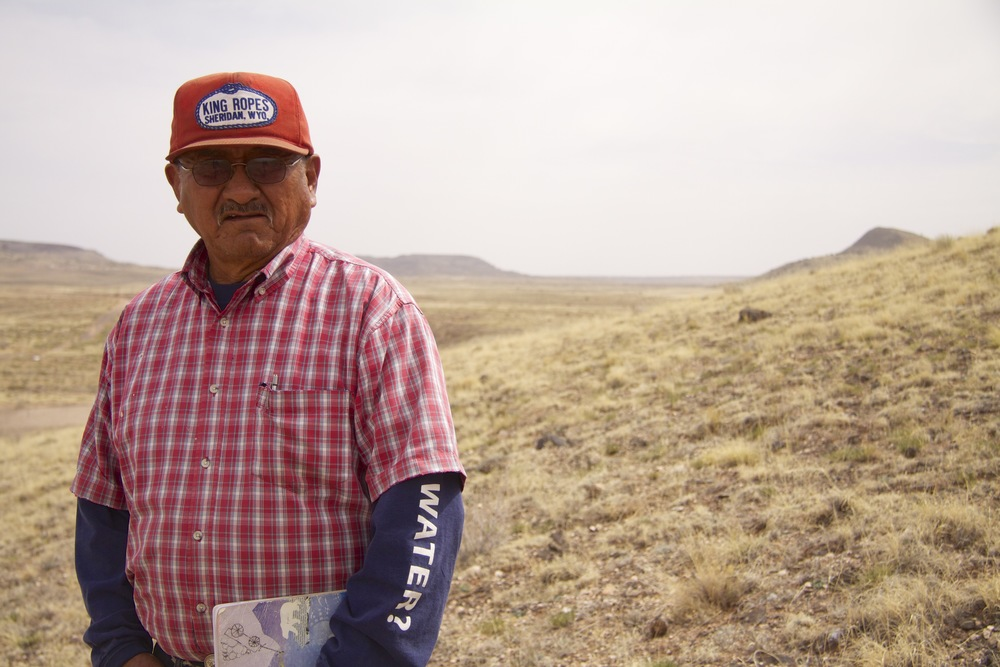 Woody Benally of Navajo Tribal Water Resources in Dilkon, Ariz. His t-shirt sleeve reads: Got Water?