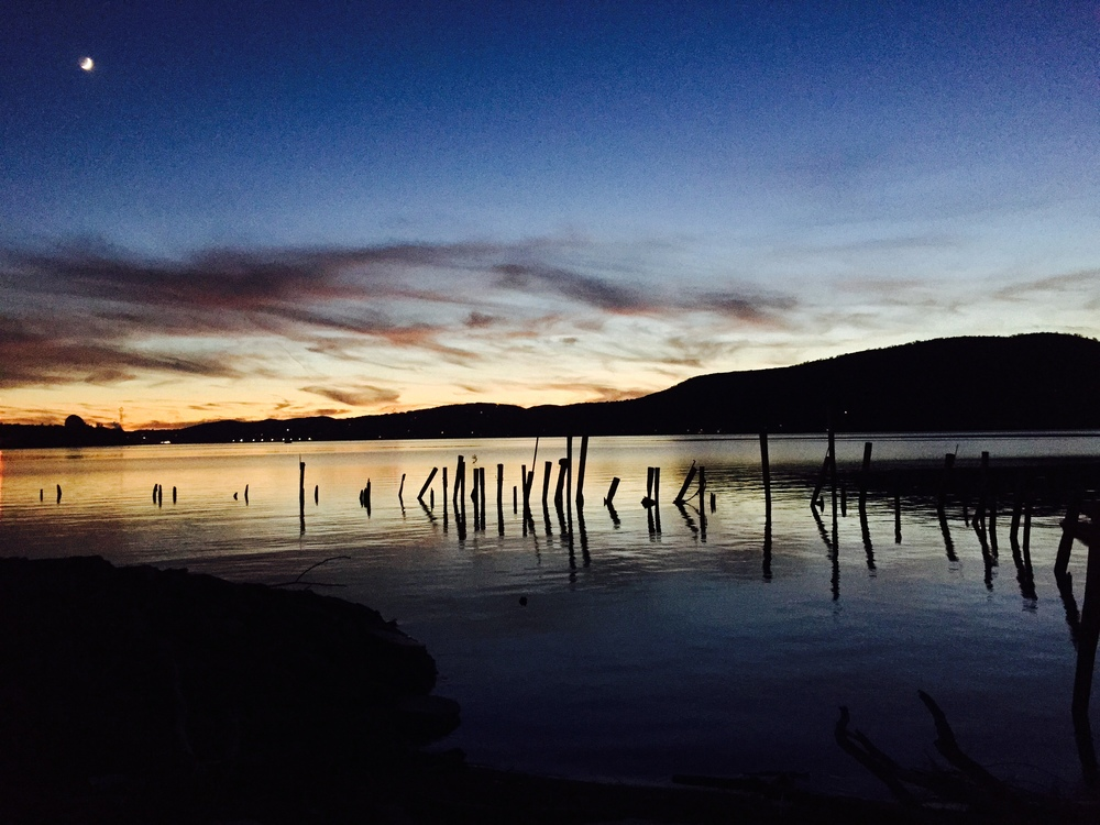 The Hudson River in Peekskill, NY. Oct. 28, 2014.    © Bobby Magill