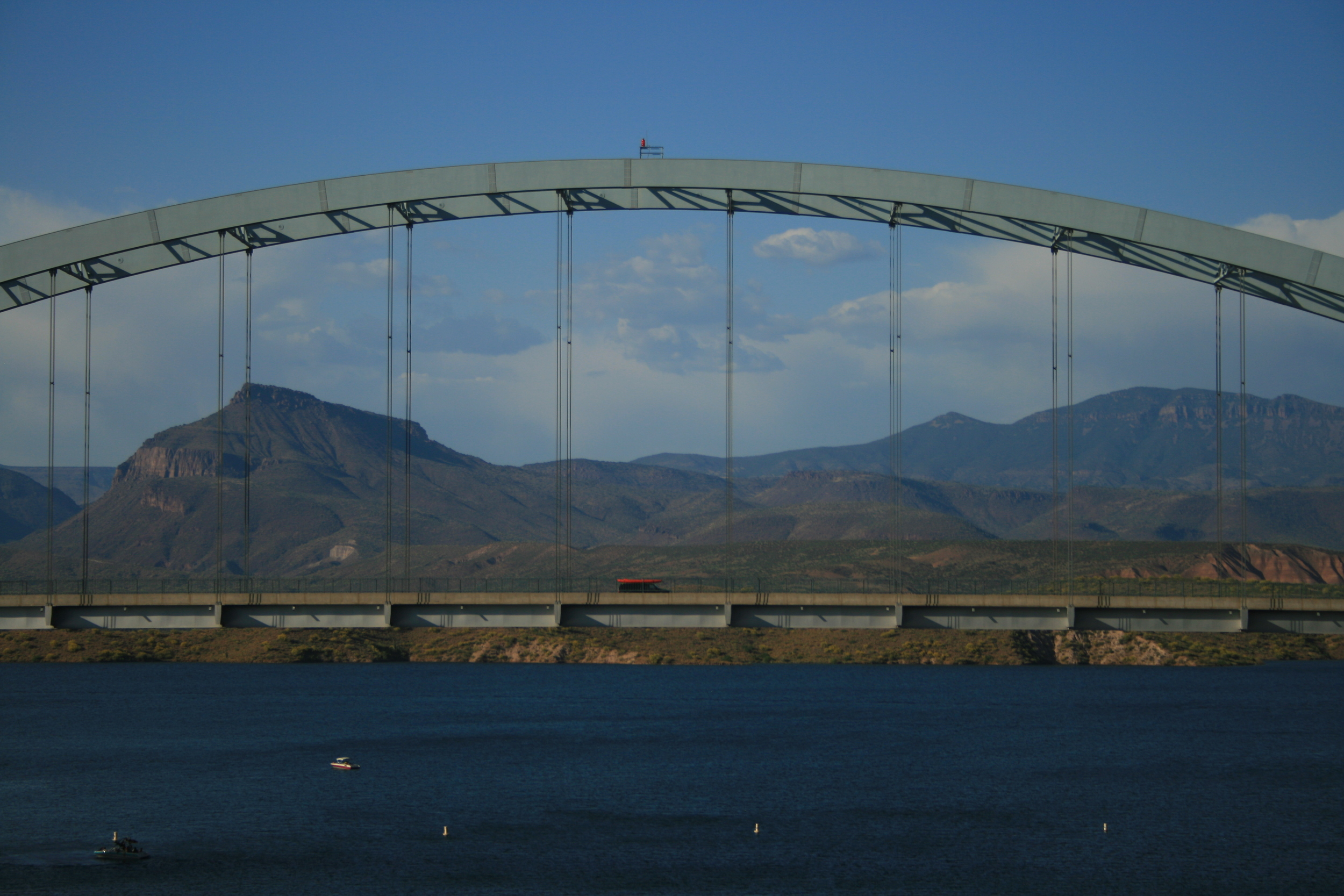 Roosevelt Lake Bridge, Gila County, Arizona. May, 2009. By Bobby Magill