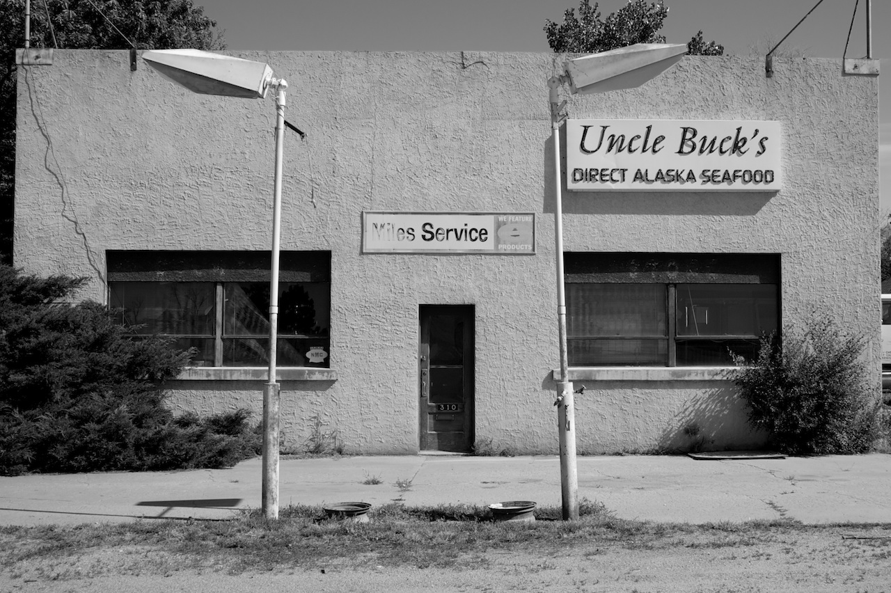 Doesn't look like Uncle Buck gets many more shipments from Alaska these days. This is on U.S. 6 in Fleming, Colo., in Logan County. Photo by Bobby Magill, August 8, 2010.