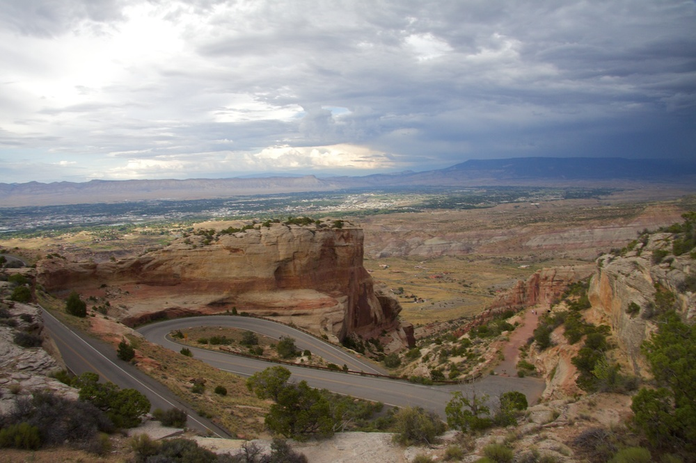 Rim Rock Drive, Colorado National Monument. Photo by Bobby Magill, July 2010.