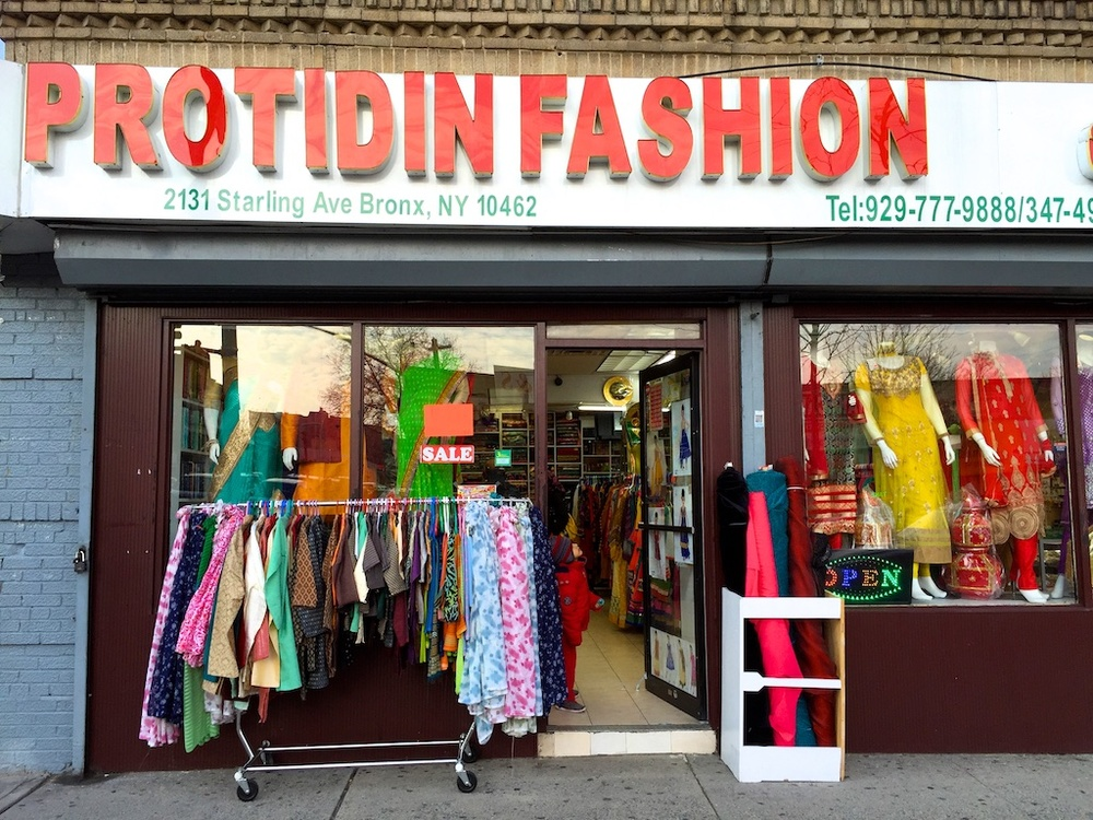 A Bangladeshi clothing store on Starling Ave. down the street from Neerob.
