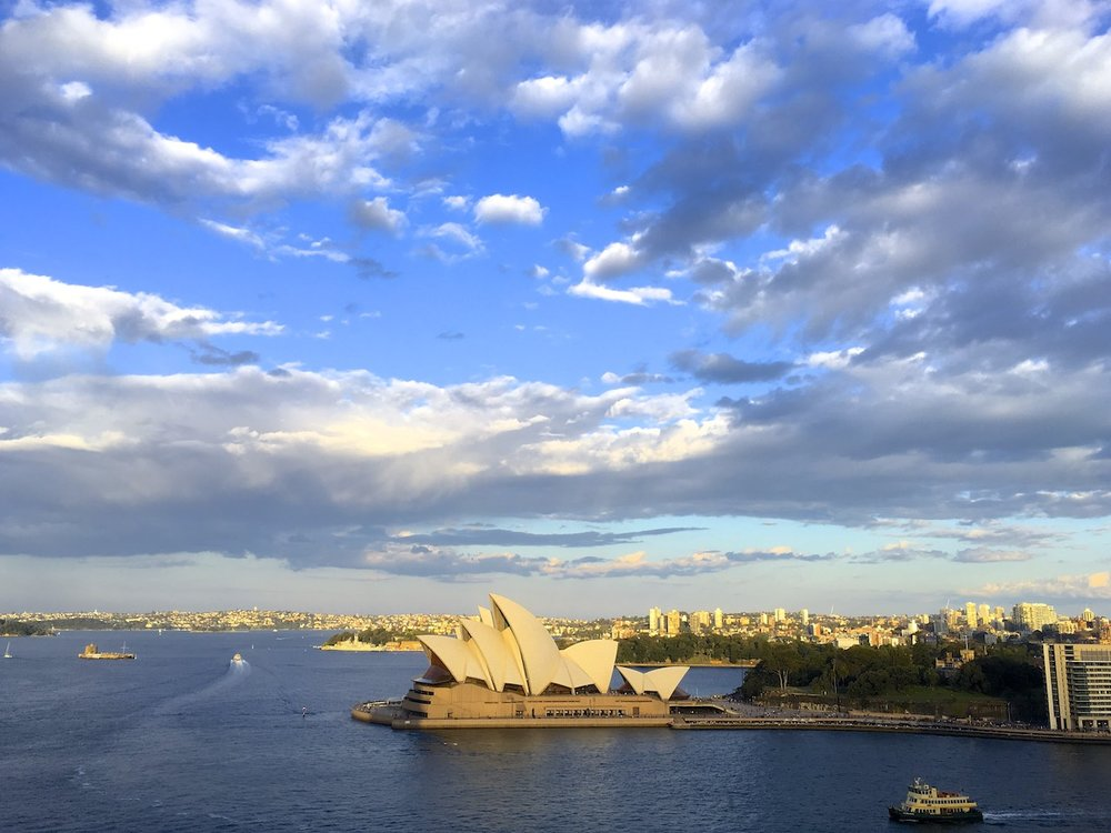 Seen from the Sydney Harbor Bridge.  © Bobby Magill