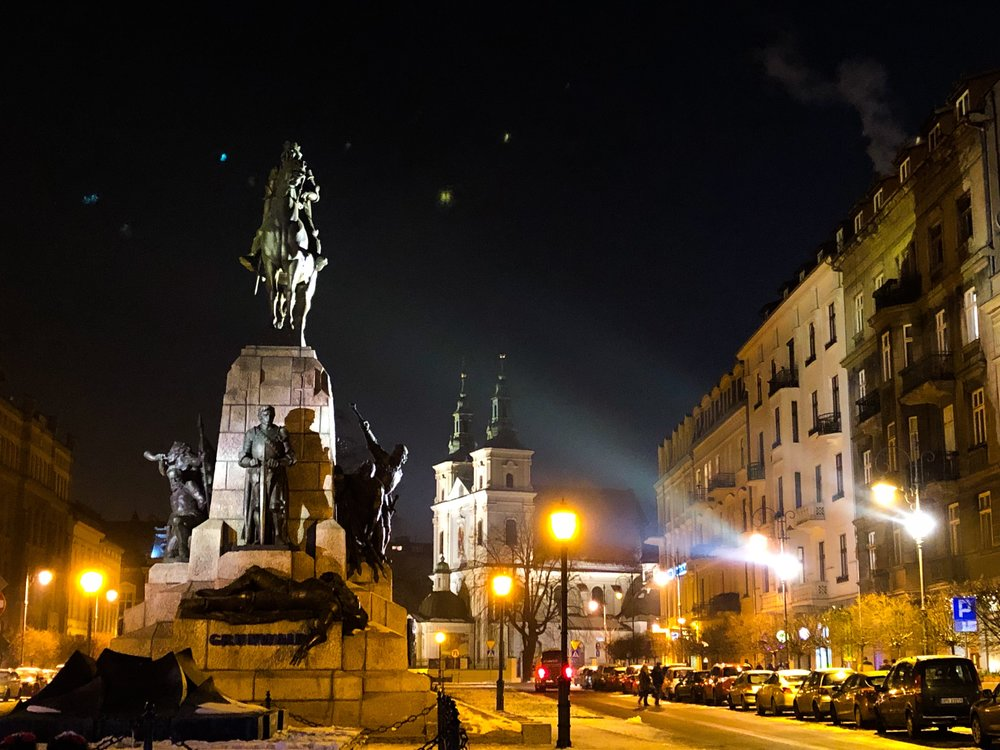 Krakow, Poland, at night. ©Bobby Magill