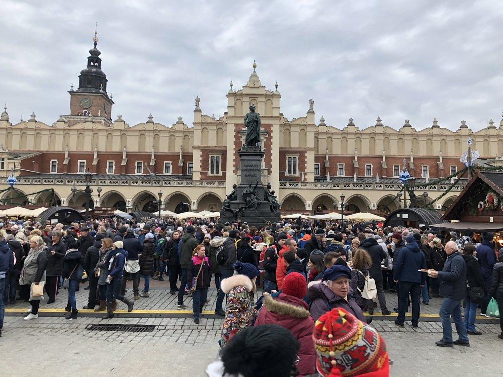 Krakow's insanely busy Christmas market. ©Bobby Magill