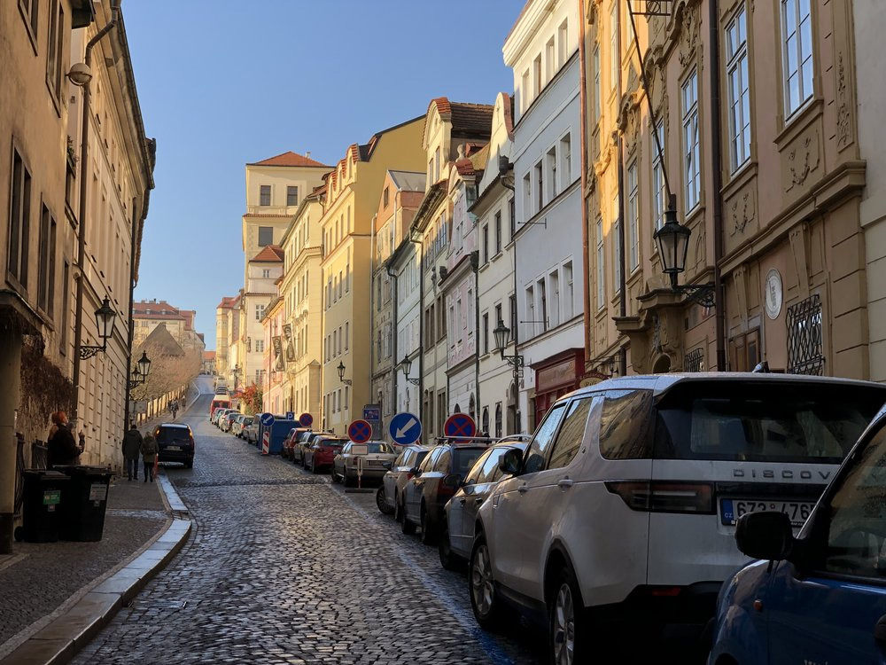 A street leading to Prague Castle. ©Bobby Magill