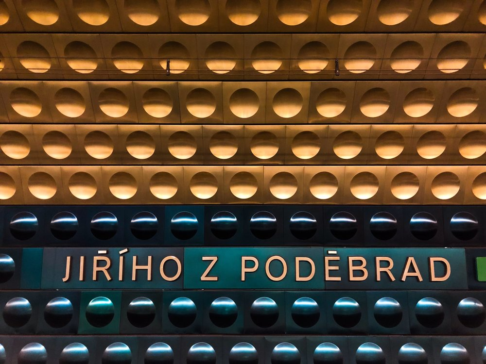 The wall of a Prague Metro station. ©Bobby Magill