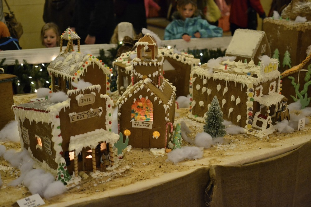 ginger bread village, created by the chefs at the broadmoor.