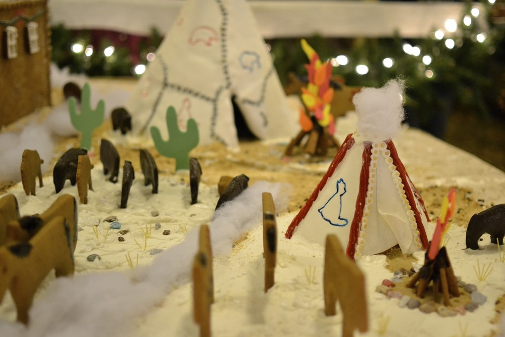 what gingerbread village is complete without a teepee!