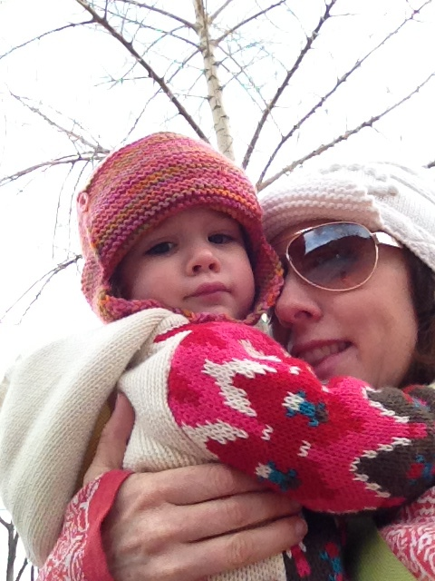 bundled up for a visit to the zoo
