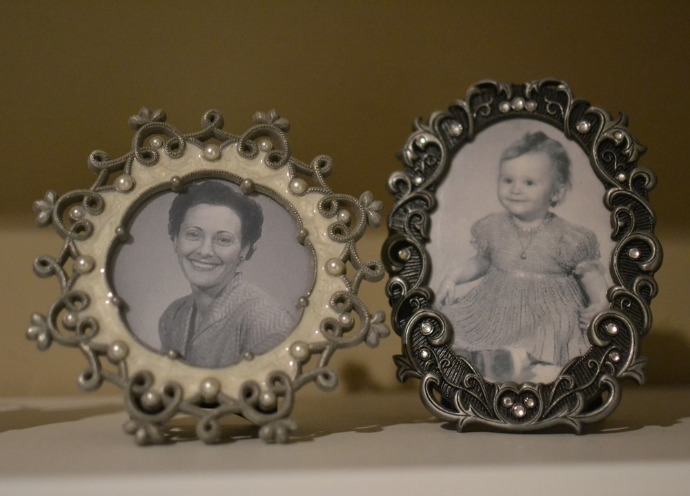 two of my favorite photos of all time. my great grandmother and my mom when she was small.