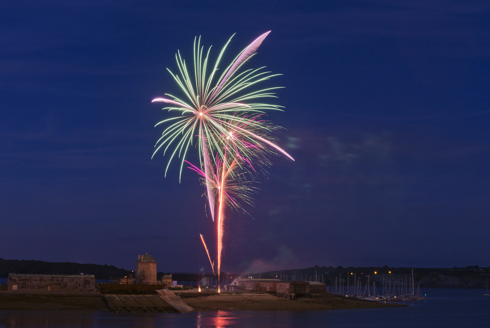 Fireworks_1: Nikon D800 with 24-70 mm Nikkor lens at 48 mm, ISO 200, 11 sec at f/11, tripod