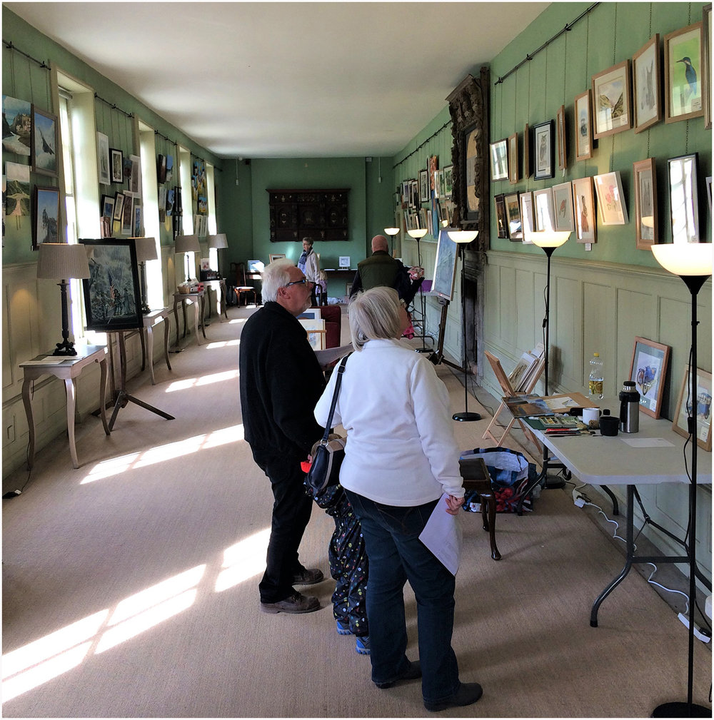 Visitors in the Long Gallery